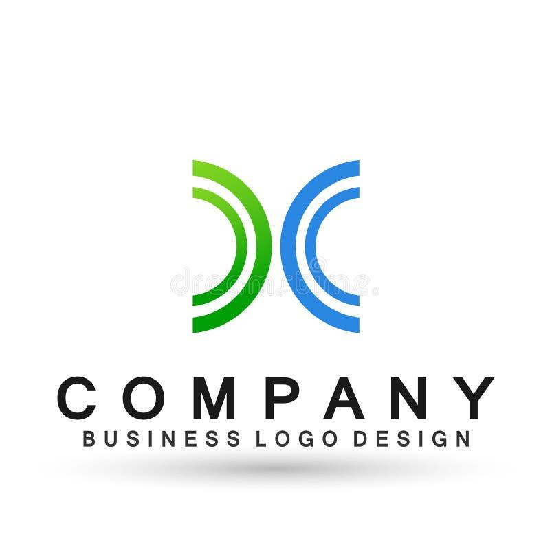 Резюмируйте semi круг форменное соединение логотипа дела на корпоративном инвестирует дизайн логотипа дела Финансовые инвестиции  бесплатная иллюстрация