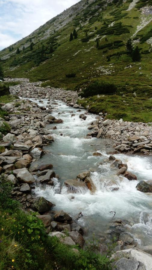 Река Ã-sterreich Alpen стоковая фотография