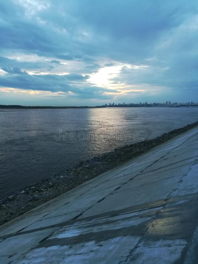 Река Амур стоковые фотографии rf