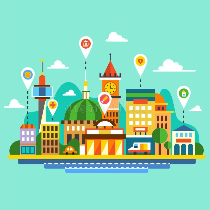 река ландшафта kremlin города отраженное ночой бесплатная иллюстрация