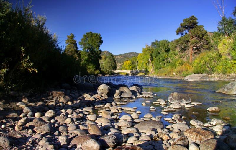 река Арканзаса colorado сценарное стоковое изображение rf