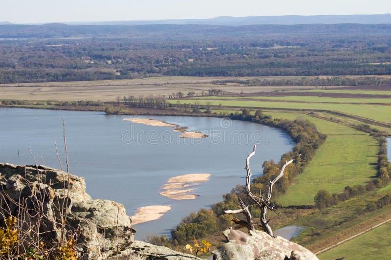 Река Арканзас от Петит горы Джина стоковые фото
