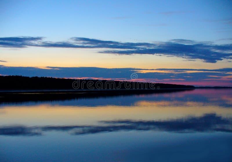 Река вечера стоковое фото