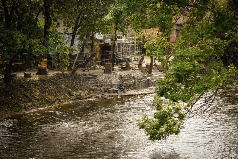Река в Вильнюсе стоковая фотография