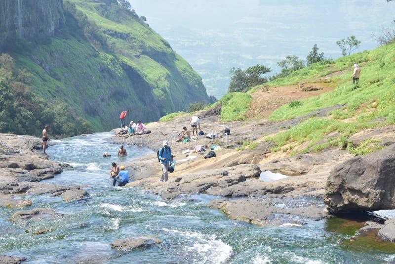 Река в горе стоковые фото