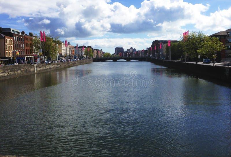 Река в Дублине, Ирландии стоковое фото rf
