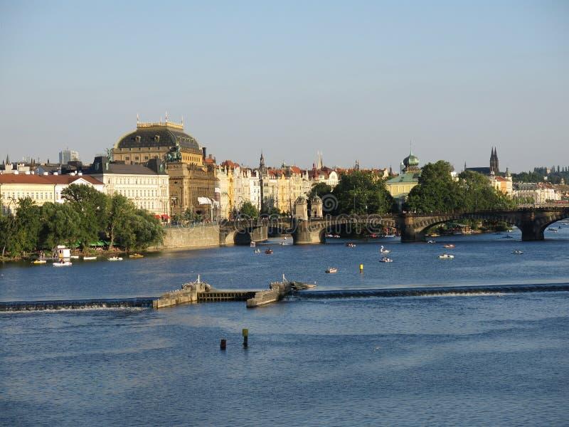 Река Влтавы, Прага стоковая фотография