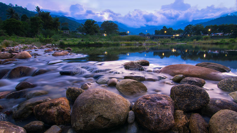 Река в Таиланде стоковое изображение