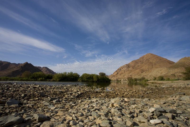 Река в Richtersveld, Южная Африка. стоковое фото