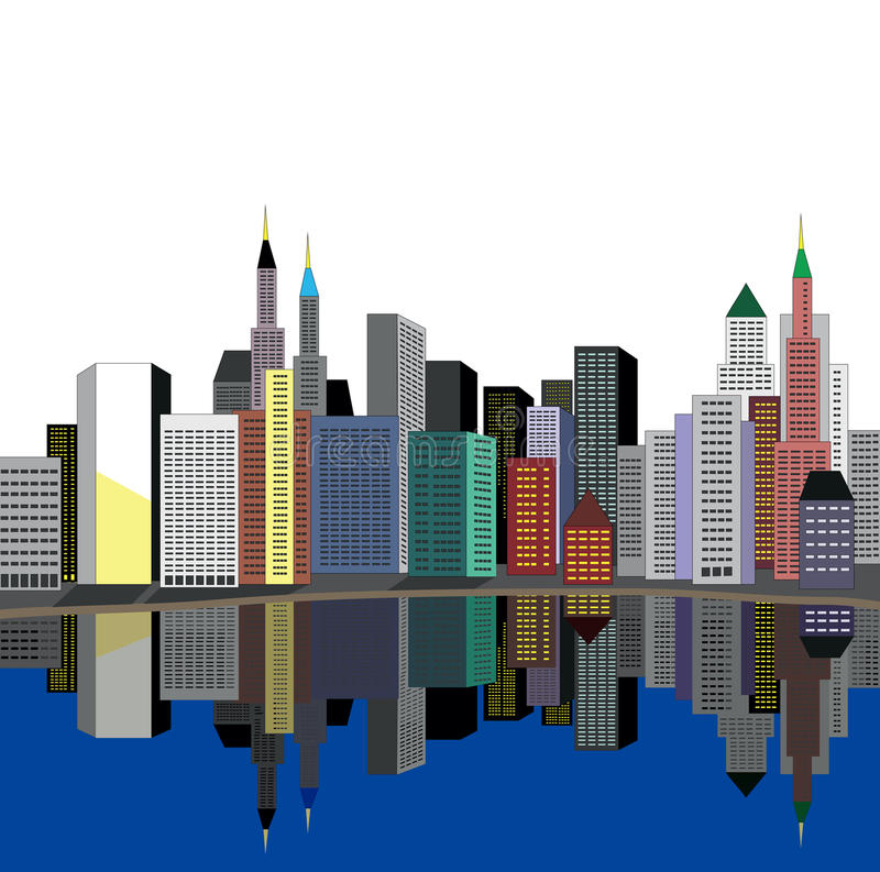 река города иллюстрация вектора
