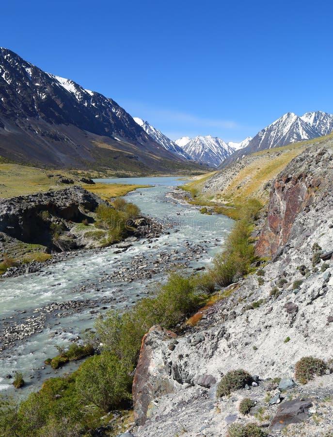 река горы ландшафта zanskar стоковое фото rf