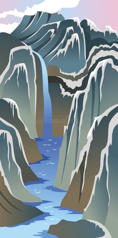 река гор иллюстрация штока