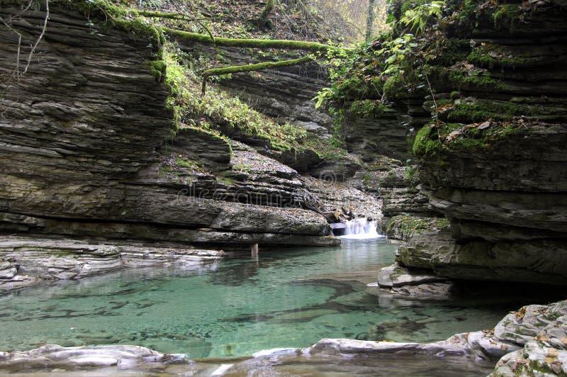 река гор caucasus стоковое изображение