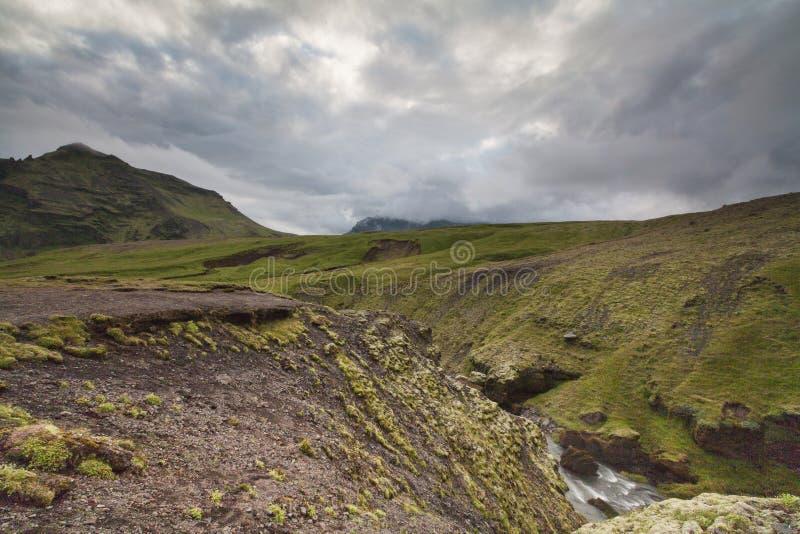 Река Исландия Skoga стоковая фотография rf