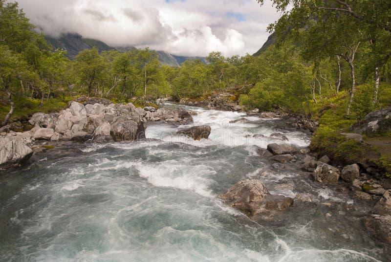Река и водопад стоковое изображение rf