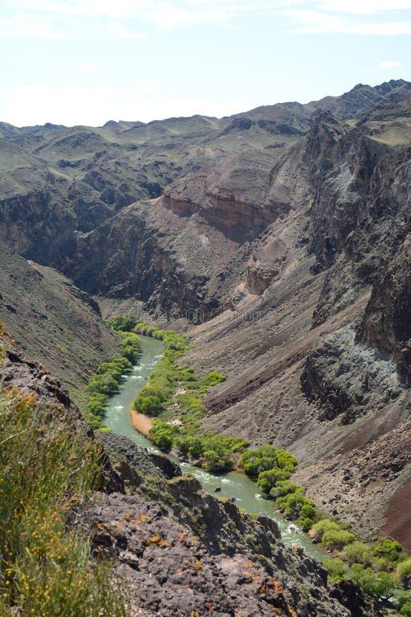 Река и каньон Charyn Национальный парк Charyn Регион Алма-Ата kazakhstan стоковое фото