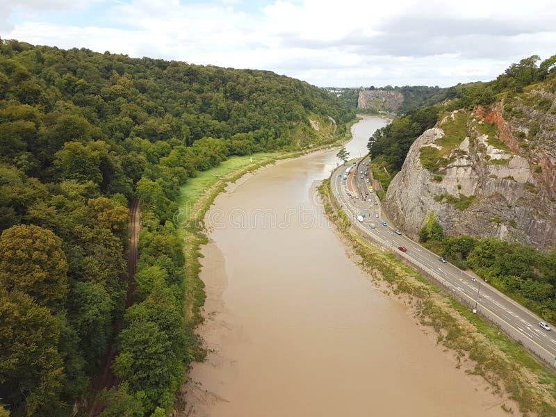 Река и шоссе Эвона стоковая фотография