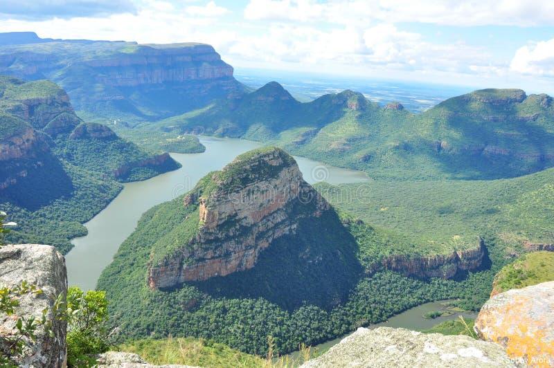 река каньона blyde Африки южное стоковое изображение rf