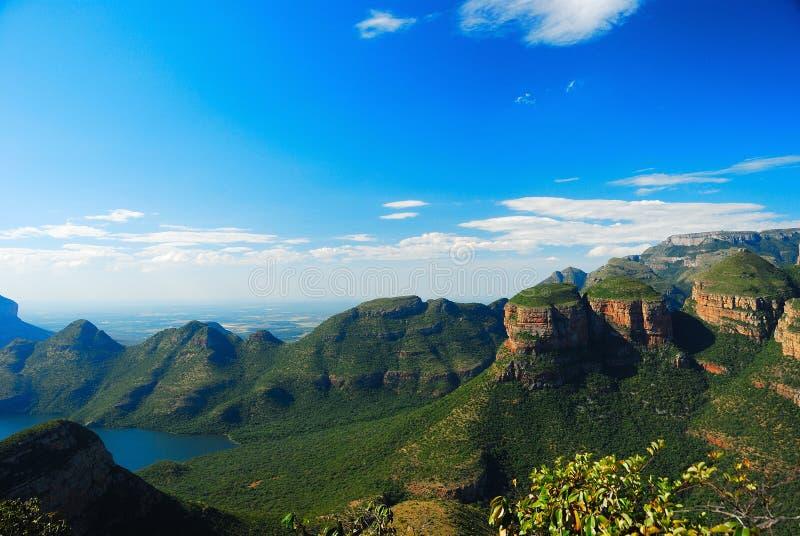 река каньона blyde Африки южное стоковые изображения rf