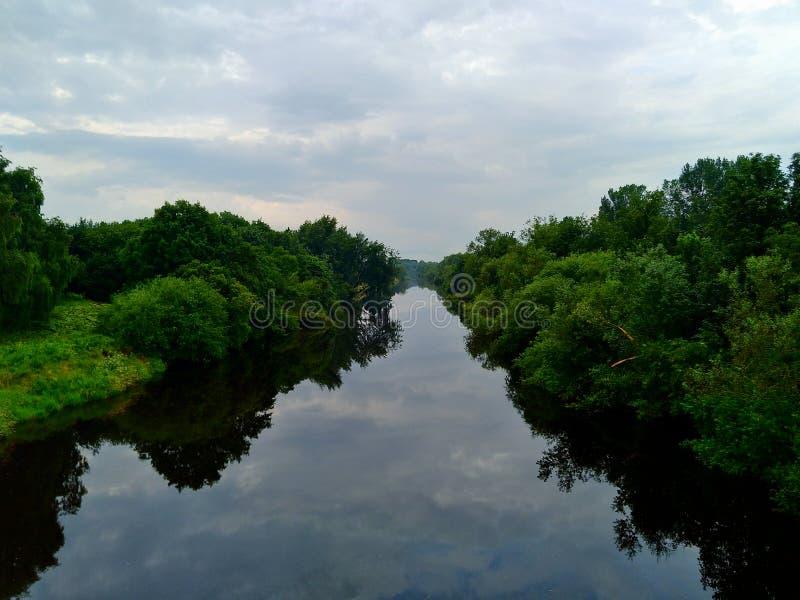 Река Клайд на парке Strathclyde стоковая фотография