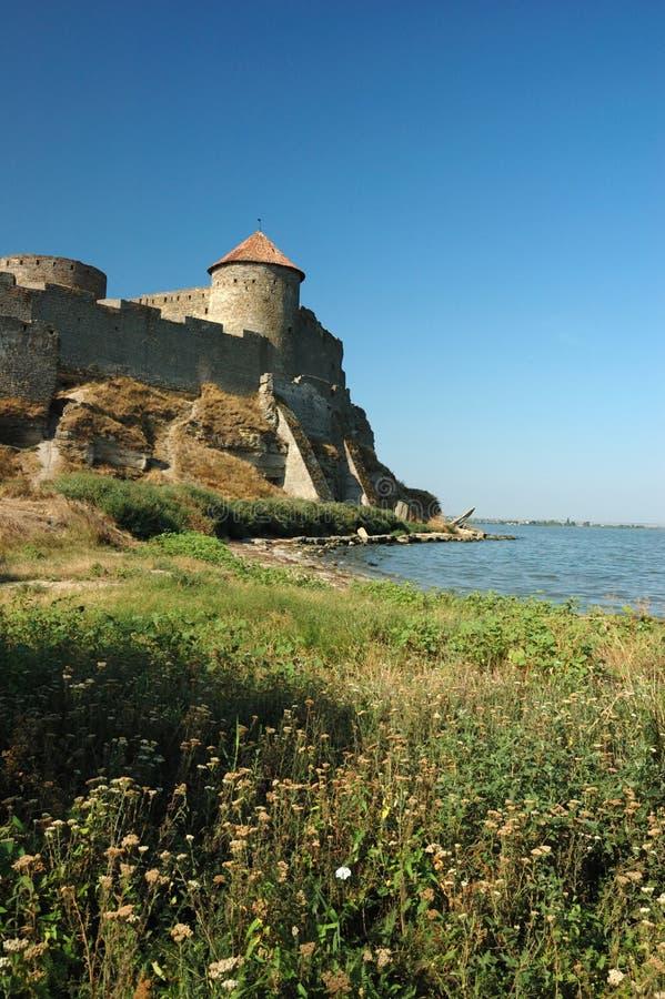 река крепости банка старое стоковое изображение rf