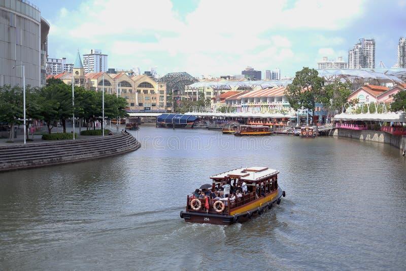 Река набережной Clark на Сингапуре стоковая фотография