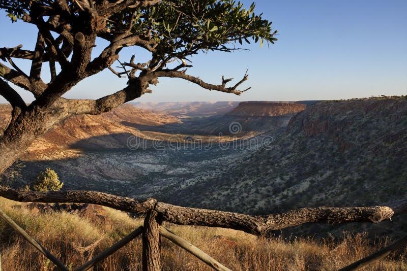 река Намибии зажима каньона стоковое фото rf