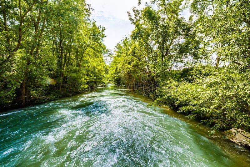 Река на холмах Apennines стоковое фото rf