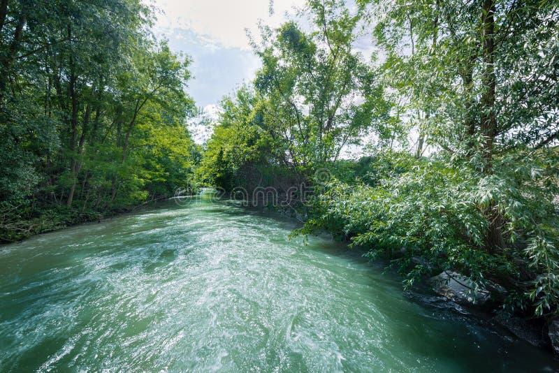 Река на холмах Apennines стоковое изображение