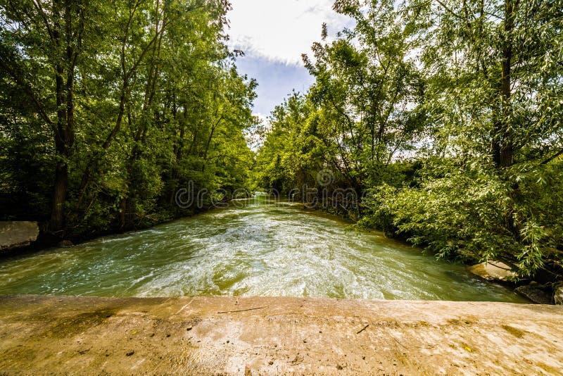 Река на холмах Apennines стоковое изображение rf