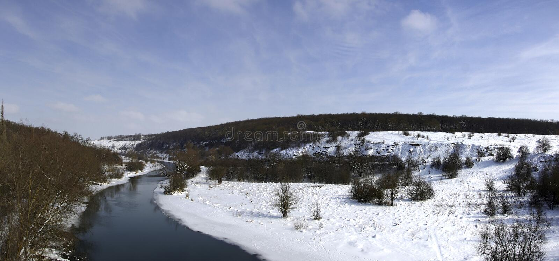Река панорамы стоковое фото