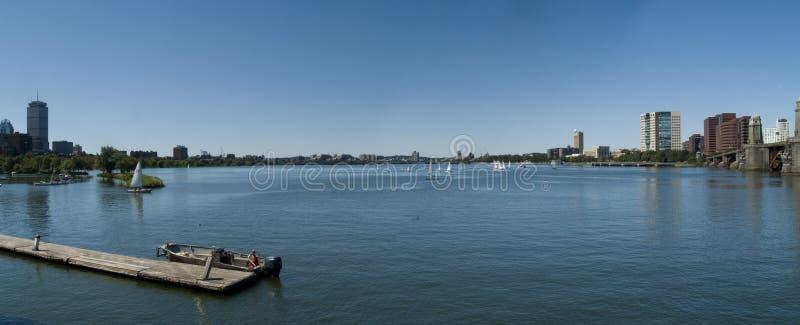 река панорамы charles стоковая фотография rf