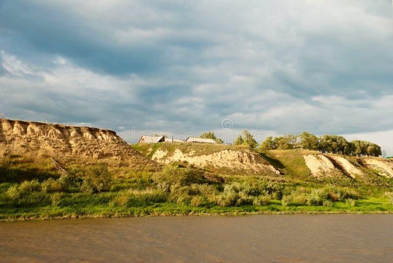 река права irtysh свободного полета стоковое изображение