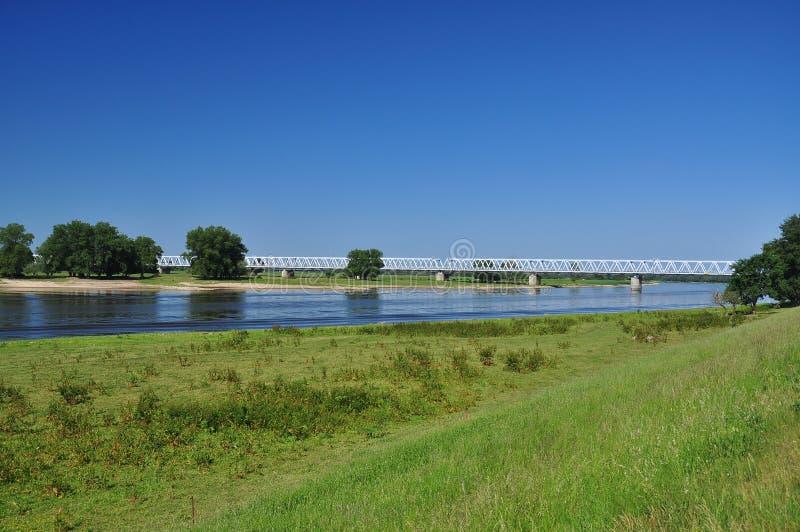 река рельса elbe Германии моста стоковое изображение