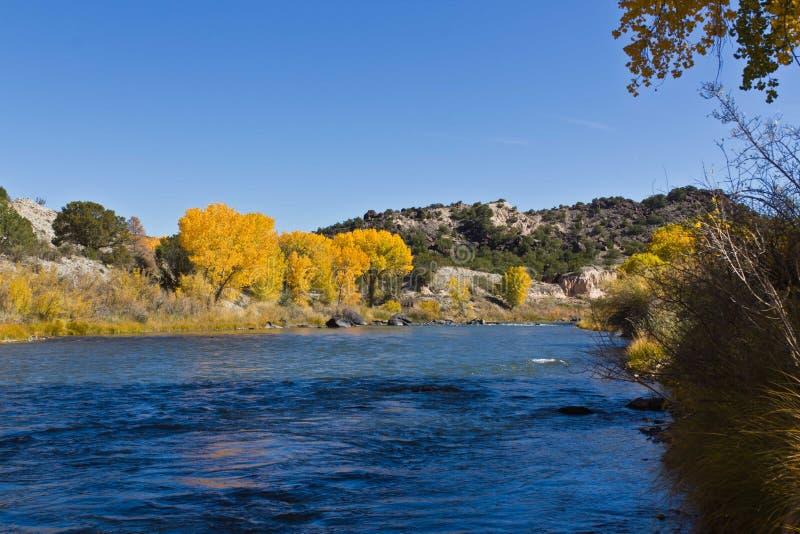 Река Рио Гранде в осени стоковая фотография rf
