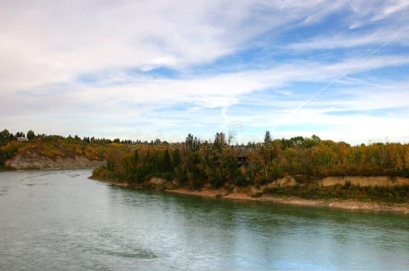 Река Саскачевана стоковая фотография rf