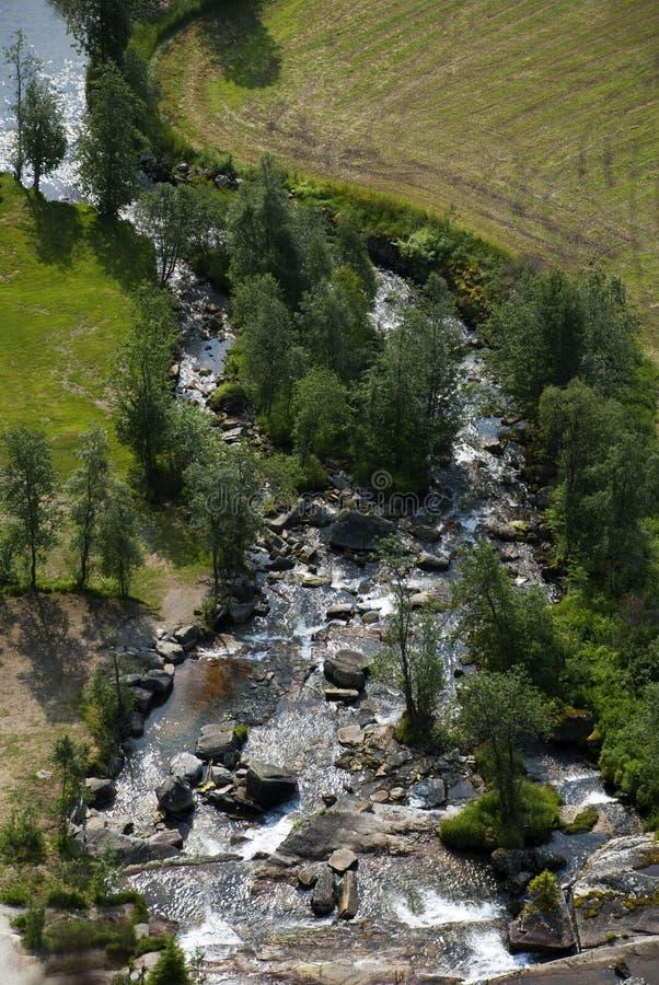 Река сверху стоковые изображения