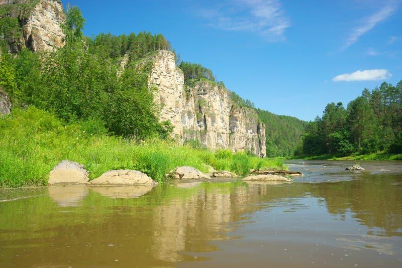 Река сена Россия, южное Ural стоковые изображения rf