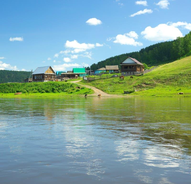 Река сена Россия, южное Ural стоковая фотография