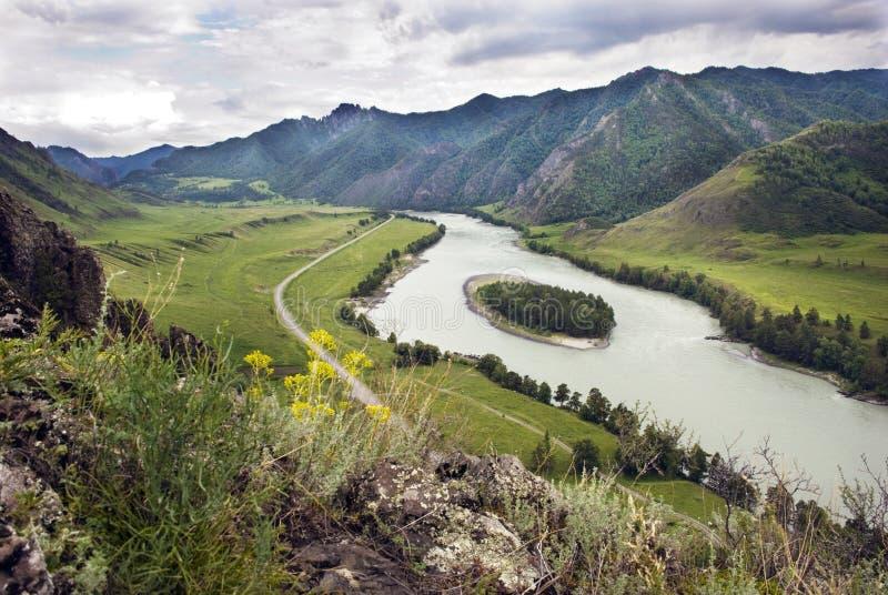река середины katun острова стоковые изображения rf