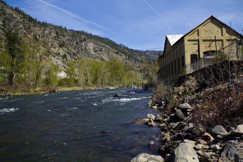 река силы завода стоковая фотография rf