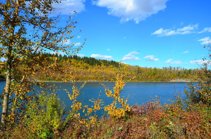 Река стерляжины, Святой Альберт, Альберта, Канада стоковое изображение rf