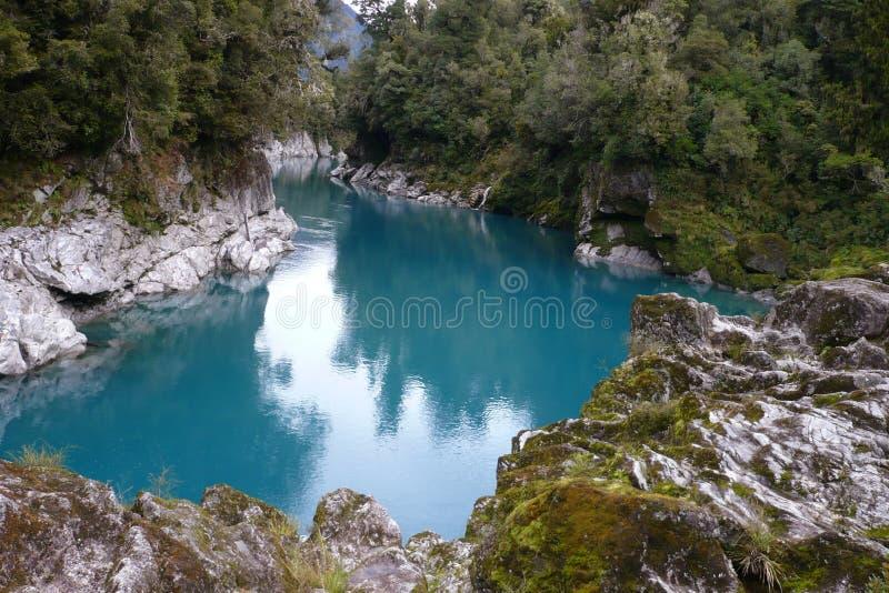 река сценарный zealand hokitika gorge новое стоковое изображение rf