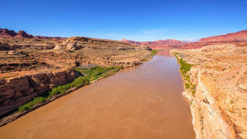 река США Аризоны colorado horseshoe стоковое изображение rf