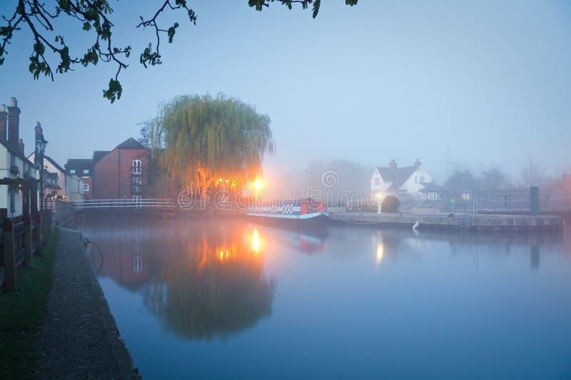 Река Темза в Оксфорде стоковые изображения rf