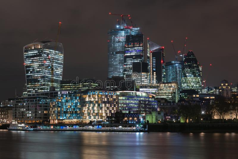 Река Темза Лондон стоковое изображение
