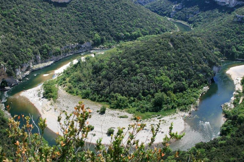 река Франции ardeche центральное южное стоковые изображения