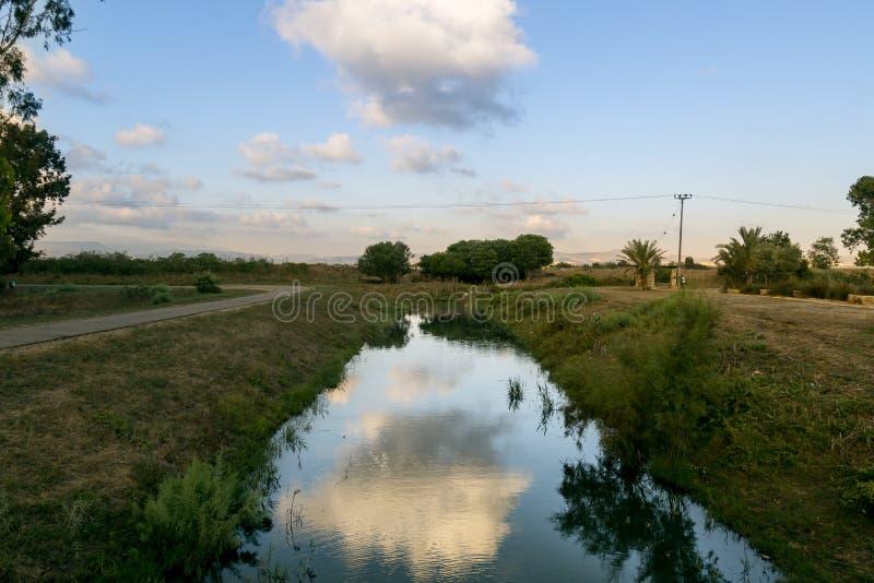 Река Хайфы стоковое изображение
