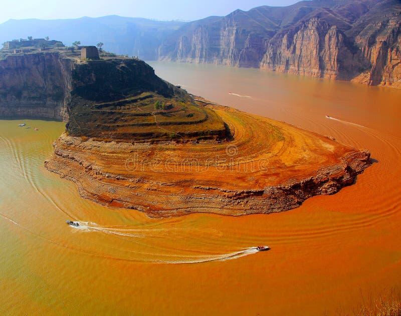 Река Хуанхэ в Китае стоковые фотографии rf