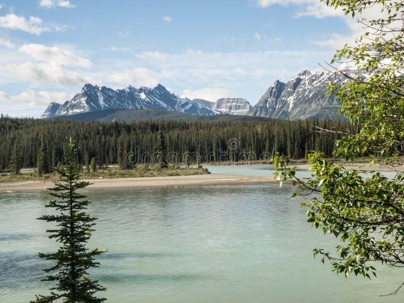Река через долину горы стоковое изображение rf